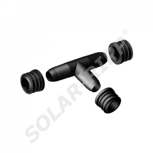 SOLAR-RIPP ® Solar Tube T Joint With 3 Pcs. Grommets SRX