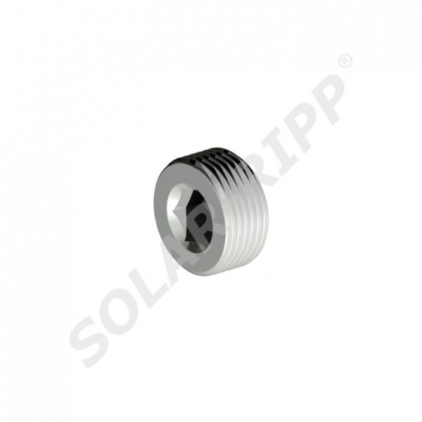 "SOLAR-RIPP ® 0.75"" MT Screw For Manifold End With Thread, Made Of Metal (NEW)"